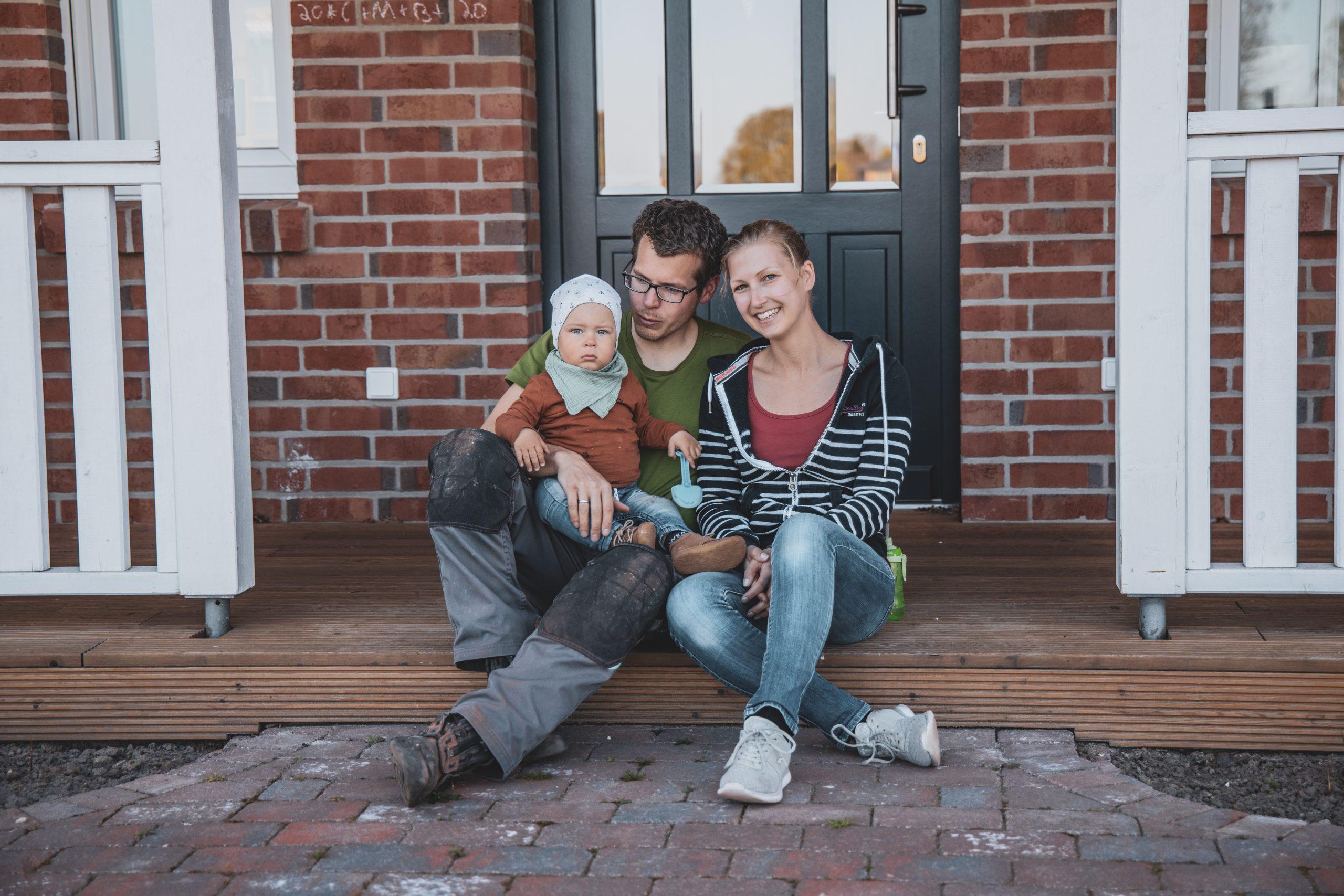 Nadine, hat spontan mit ihrer Familie an der Haustüraktion teilgenommen.